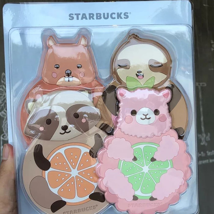 cute stickers starbucks china merchandise summer collection 2019