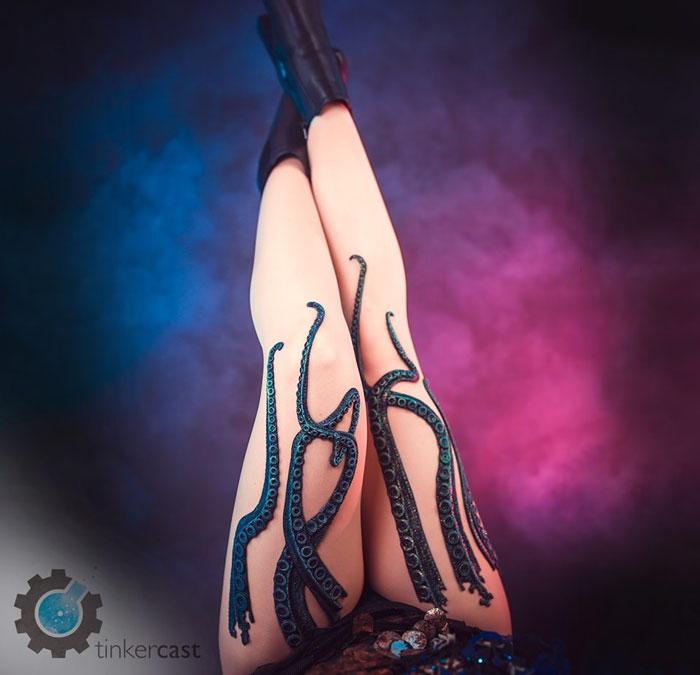 dark tentacle tights handmade etsy tinkercast