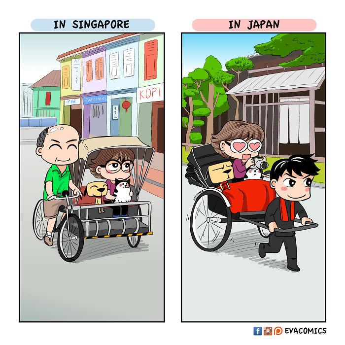 dashing rickshaw pullers comics japan cultural differences by evacomics