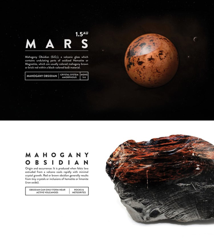 deskspace desk accessory earth mars mahogany obsidian
