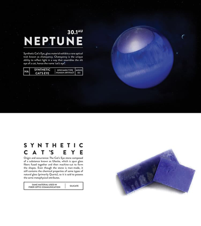 deskspace desk accessory earth neptune synthetic cats eye
