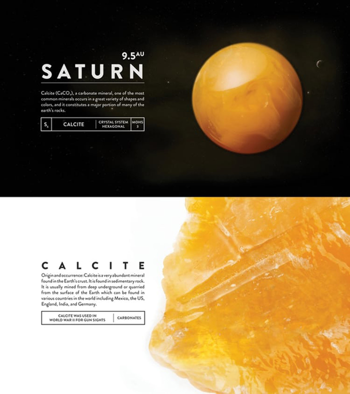 deskspace desk accessory earth saturn calcite