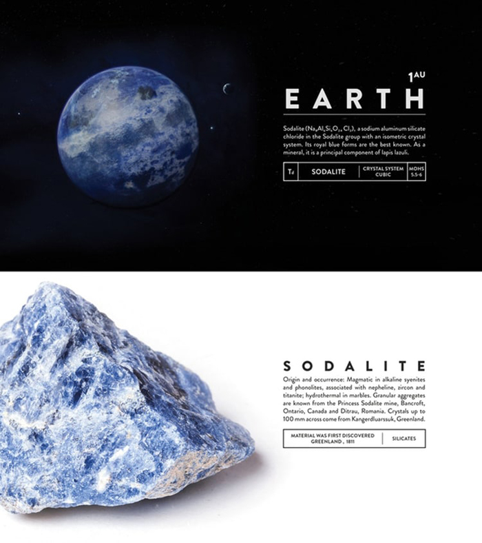 deskspace desk accessory earth sodalite