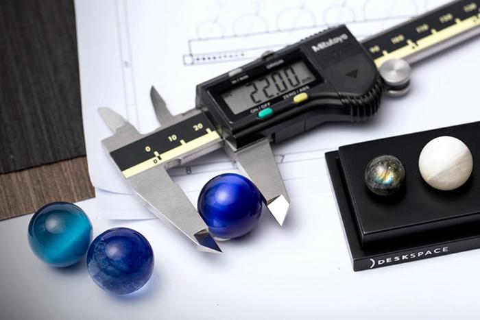 deskx handcrafted planets gemstones