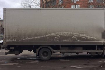 dirty cars art nikita golubev crocodile