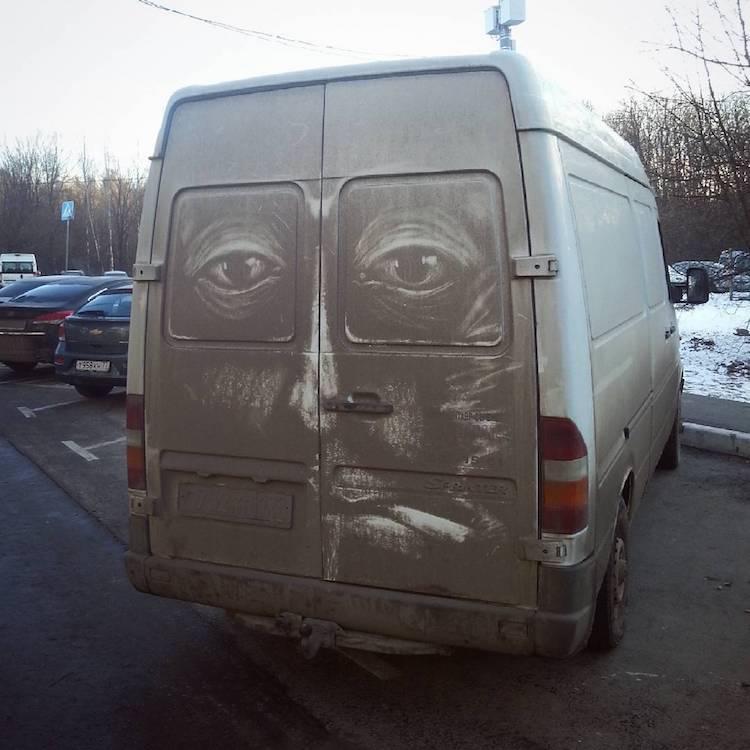 dirty cars art nikita golubev smoker face