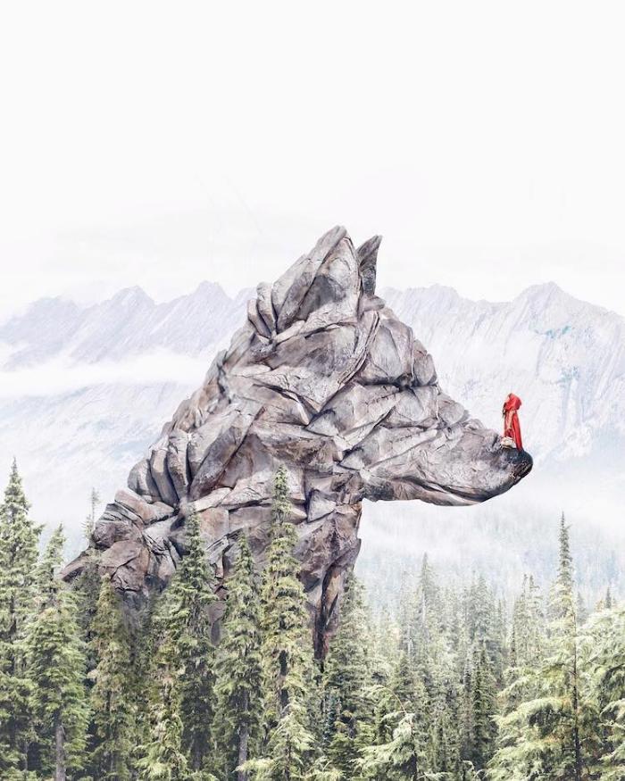 dog rock surrealism photography luisa azevedo