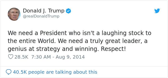 donald trump past posts president qualities