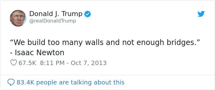 donald trump too many walls quote
