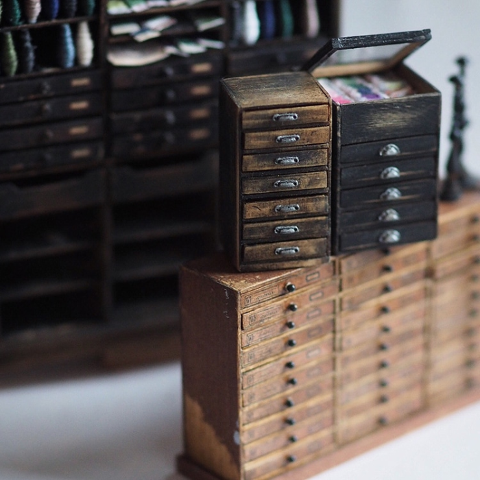 drawers handmade miniatures kiyomi chiisana shiawase