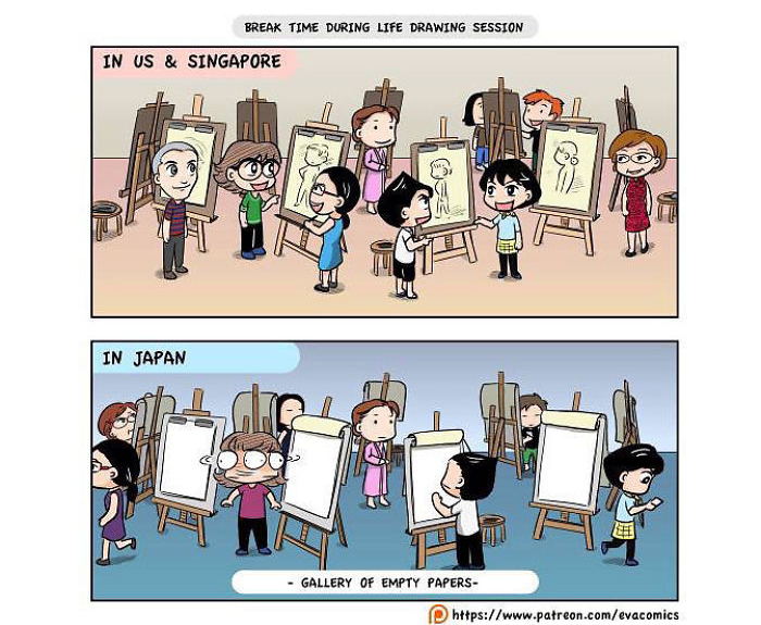 drawing sessions comics japan cultural differences by evacomics