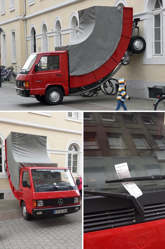 embarrassing moments art piece parking ticket