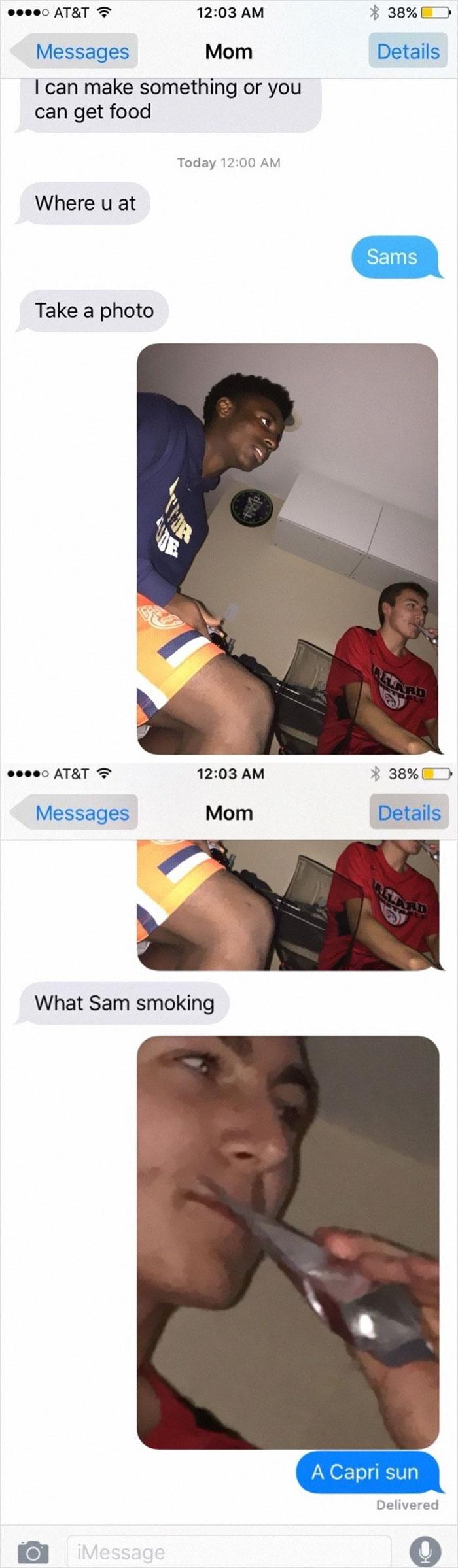 embarrassing moments capri sun cigarette