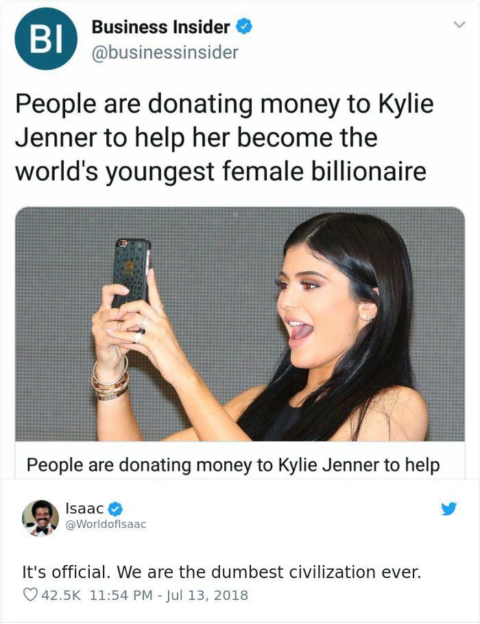 embarrassing moments kylie jenner billionnaire