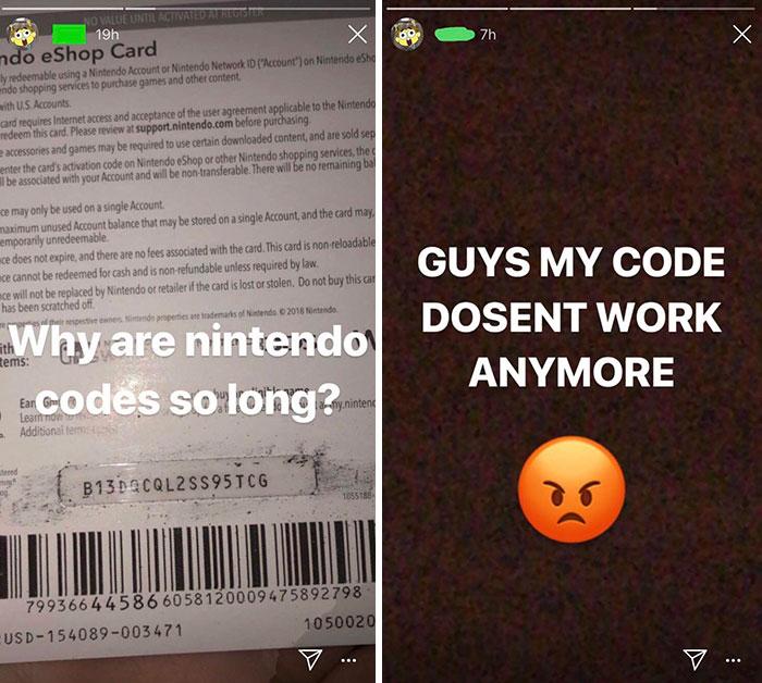 embarrassing moments nintendo code