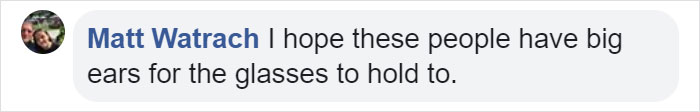 fb comment on one foot taller periscope glasses