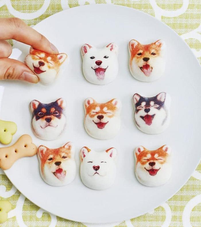 felissimo shiba inu marshmallows