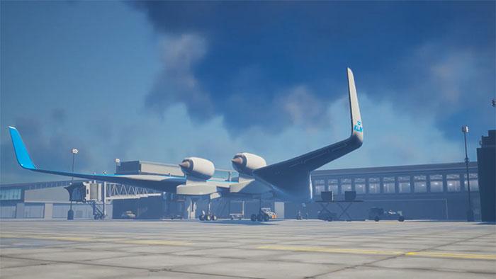 flying-v airliner fuel efficient