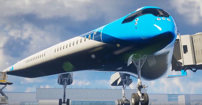 flying-v airliner justus benad prototype