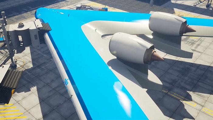 flying-v airliner model