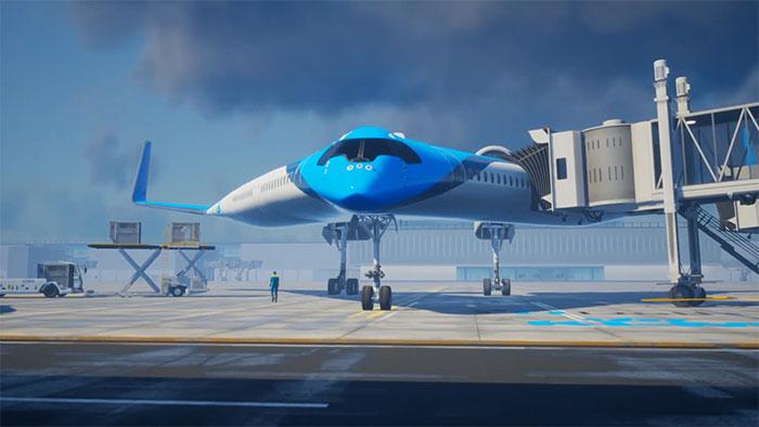 flying-v airliner prototype