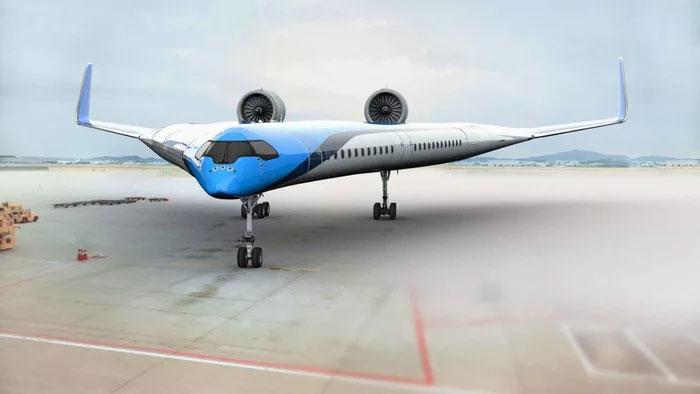 flying-v passenger airplane