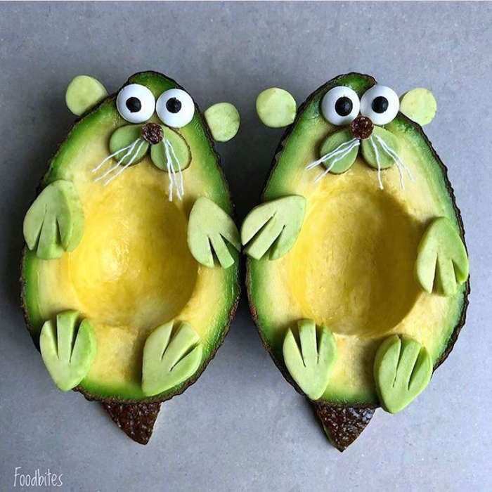 foodbites character food art avocado