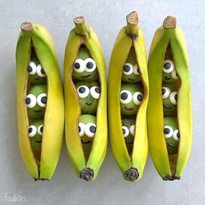 foodbites character food art banana