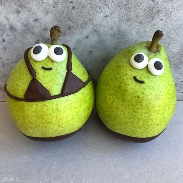 foodbites character food art pears