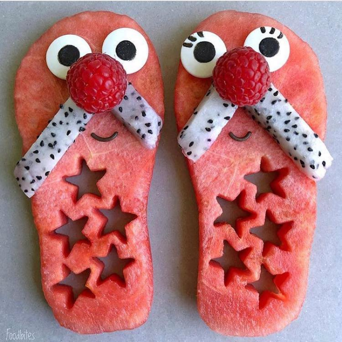 foodbites character food art slippers