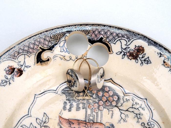 gesine hackenberg ceramic jewelry earring design