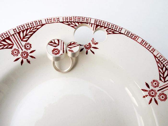 gesine hackenberg ceramic jewelry earring