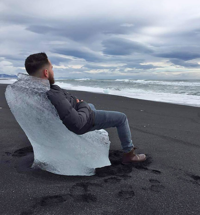 glacial ice perfect chair - interesting beach things