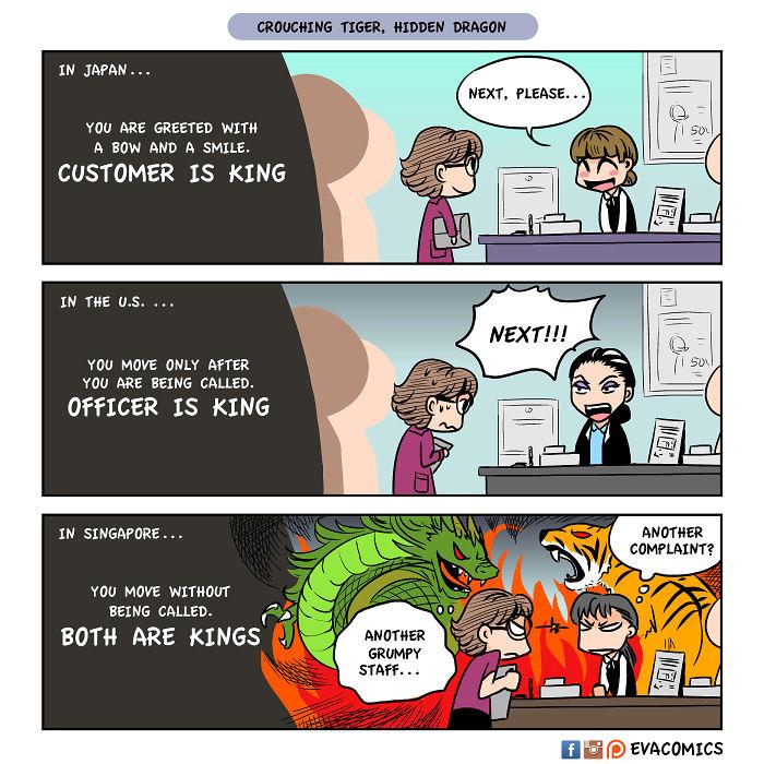 golden customer service comics japan cultural differences by evacomics