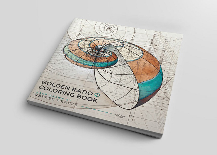 golden ratio illustrations coloring book