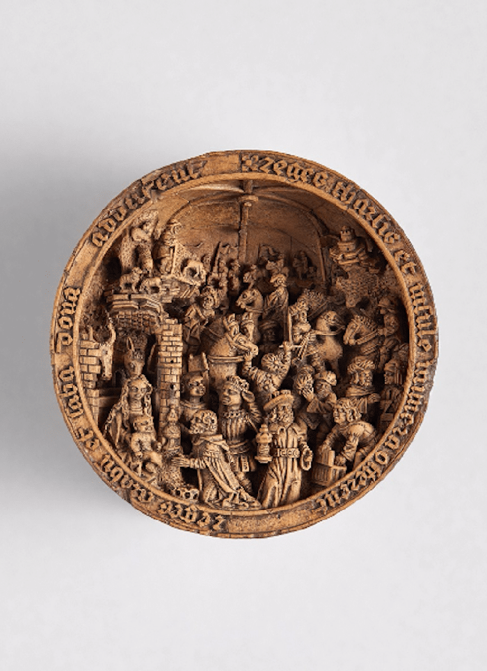 gothic boxwood miniatures adoration of the magi