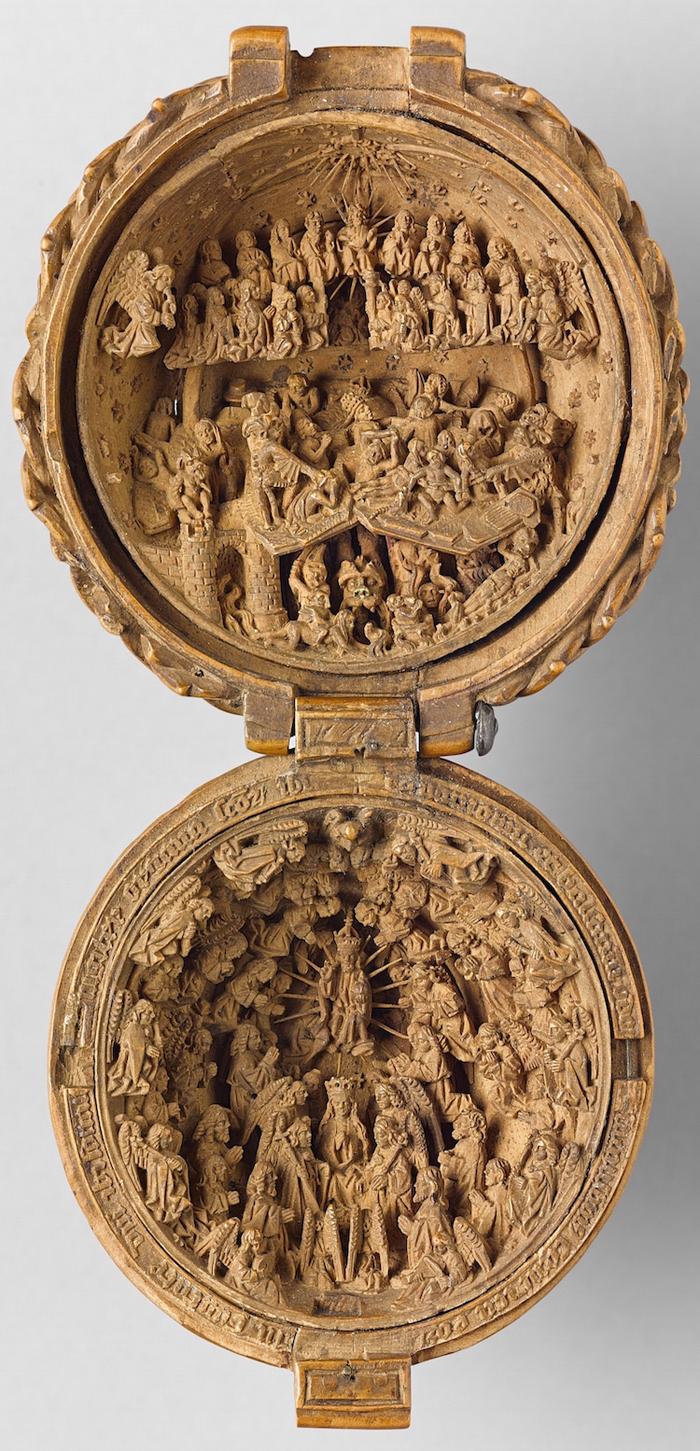 gothic boxwood miniatures last judgment coronation virgin