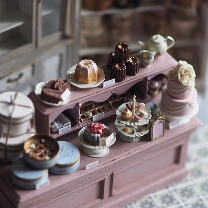 handmade miniatures kiyomi chiisana shiawase cakes