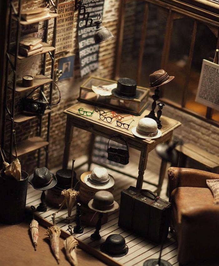 hats handmade miniatures kiyomi chiisana shiawase