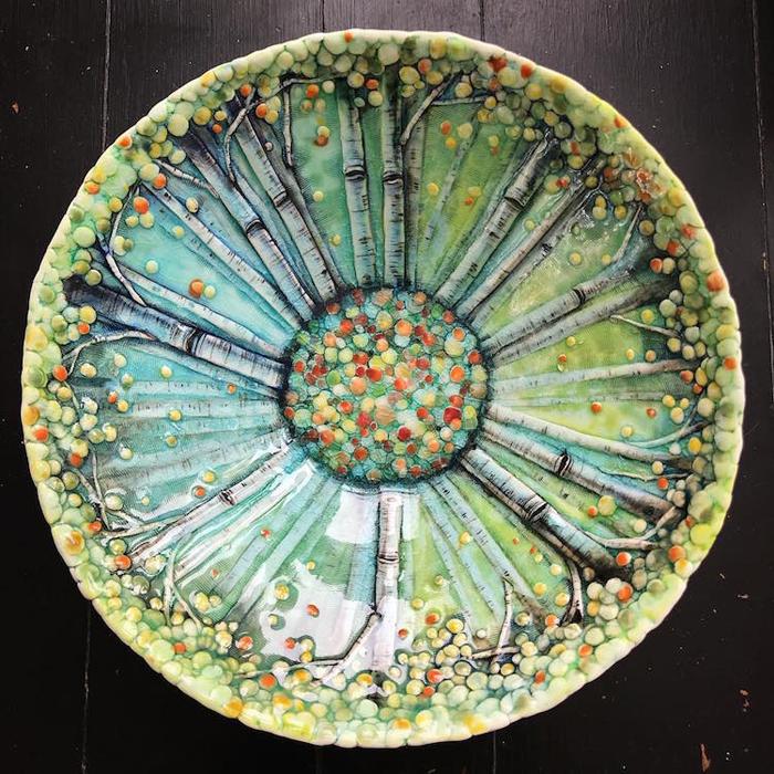 heesoo lee colorful ceramic bowl