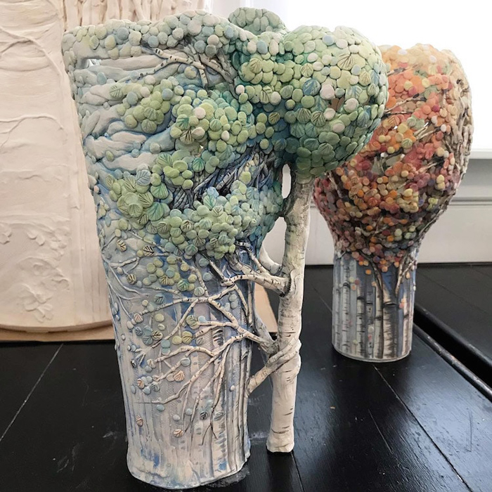 heesoo lee seasonal woodland ceramic vessels