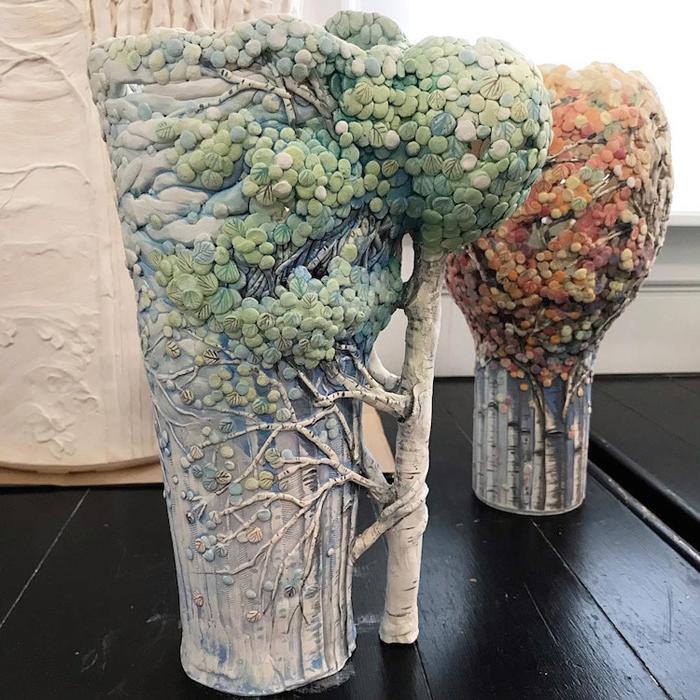 heesoo lee seasonal woodland ceramic vessels