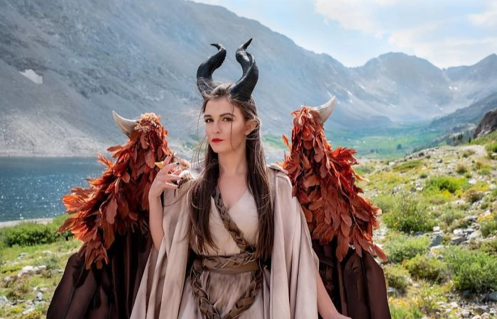 horns maleficent cosplay animatronic wings drisana litke drizzy designs