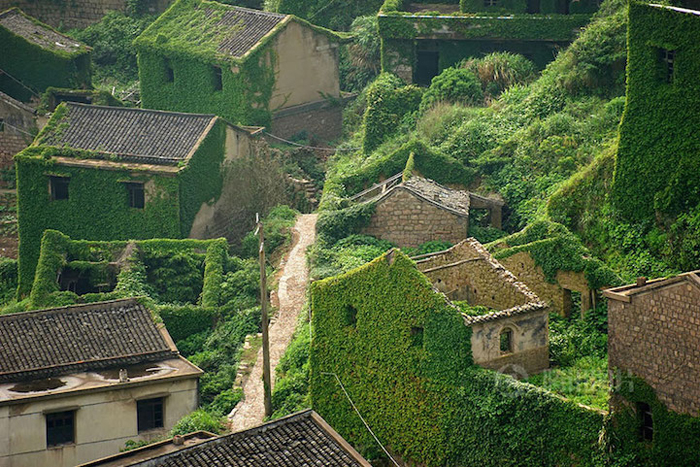 houtouwan village ivy-covered houses
