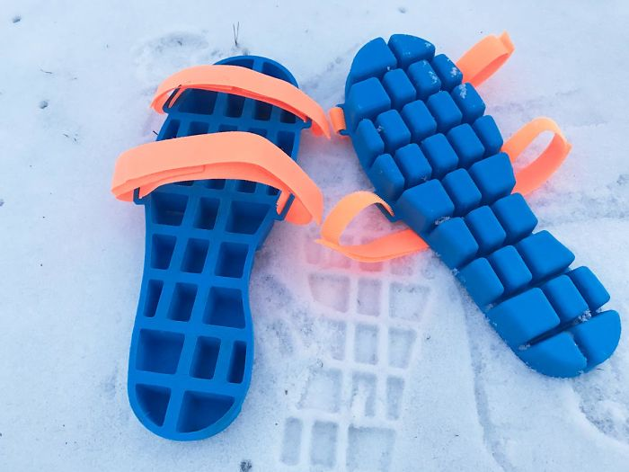 ice tray and snow shoe grips