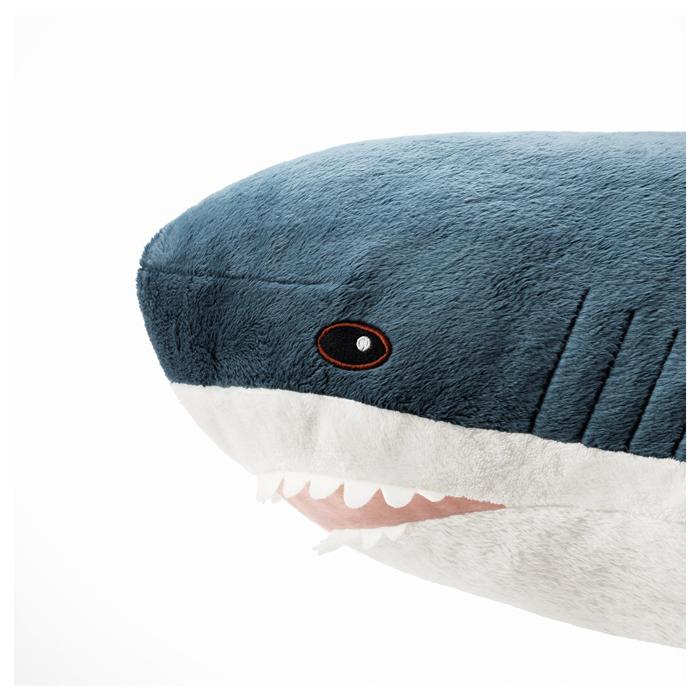 ikea plush shark toy head