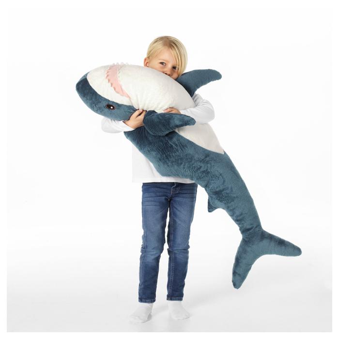 ikea plush shark toy huggable