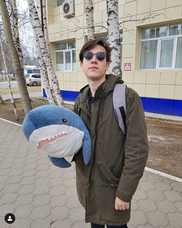 ikea plush shark toy tiny-sharky