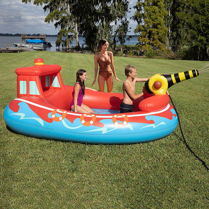 inflatable fire boat