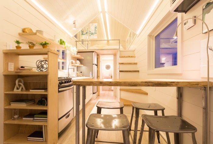interior of olive nest tiny homes